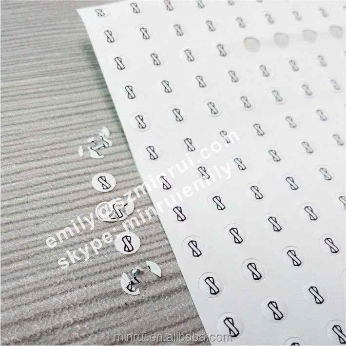 Custom 3mm round warranty seal broken stickers for phone repair warranty use, tamper proof screw logo labels for cell phones