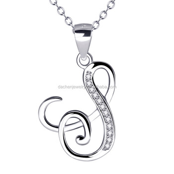 a11576bea7782c Wonderful 925 Sterling Silver Music Mark Pendant Necklace With Zircon For  ladies