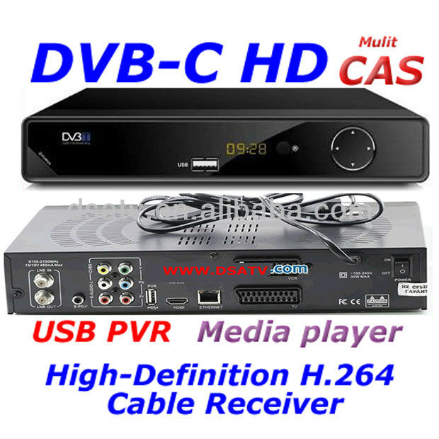 .2013 HD DVB-C usb cable set top box
