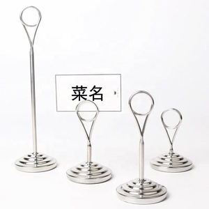 Quality Custom restaurant table number stainless steel Tabletop Menu Card Holder