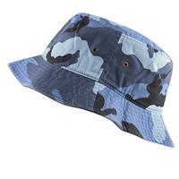 Hot Selling Wholesale Cool Foldable Blue Camo Bucket Hats