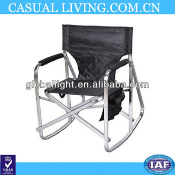 Folding Camping Picnic Rocking Director Chair 1205black