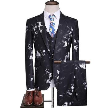 Hot-sale Newest design Wedding Business Slim Fit 3 pieces man suits