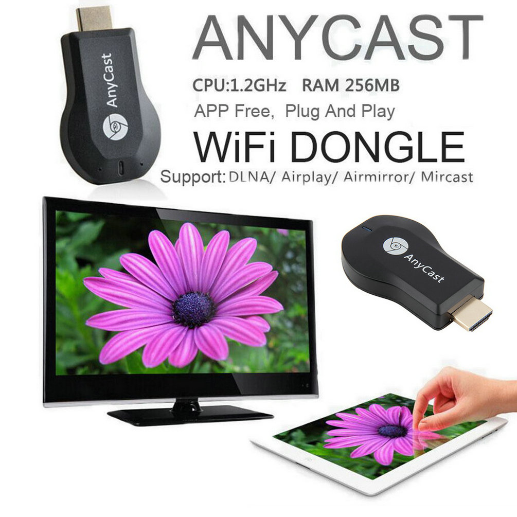 High Quality  M2 EzCast TV Stick HDMI 1080P Miracast DLNA Airplay WiFi Display Receiver Dongle Support Andriod Windows iOS