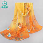 High quality chiffon georgette shawl ,designer chiffon scarves cheap