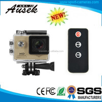 12mp full hd digital camcorder 1080p waterproof action sport camera support 4-32 gb sd/tf card
