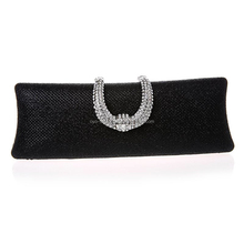 Rhinestones Clasp Flap Clutch Evening Handbag Purse for Wedding Party Prom
