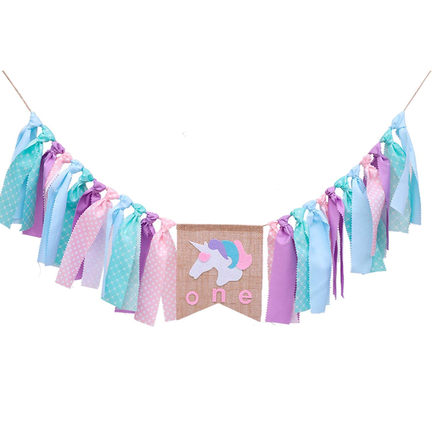 Get Quotations 1ST Happy Birthday BannerAssembledUnicorn One Highchair Decoration