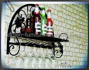 Handicrafts Home Kitchen Accessory Storage Decor Wall Shelf Metal