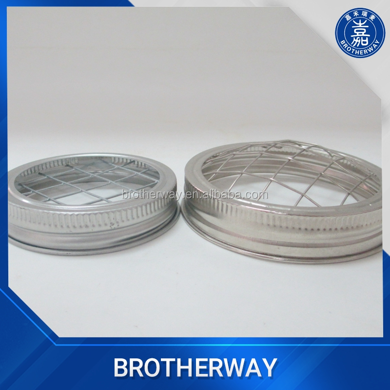 70mm 86mm metal wire mesh lid, frog flower metal cap