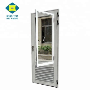 High Quality Aluminum Bathroom Double Shutter Doors Designs