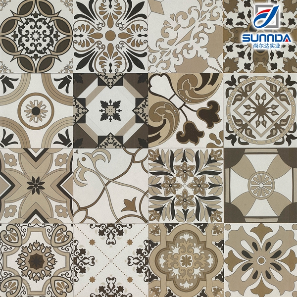 High Quality Rustic Flower Porcelain Floor Decorative Rustic Hand Painted Mexican Talevera Design tiles