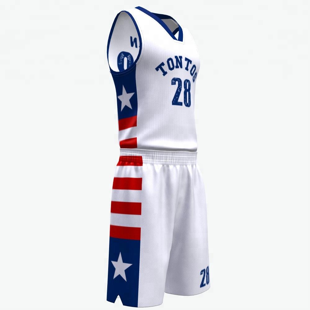 Beste Qualität anpassen Leere sublimiert weiß neuesten 2018 Basketball Jersey einheitlichen Design