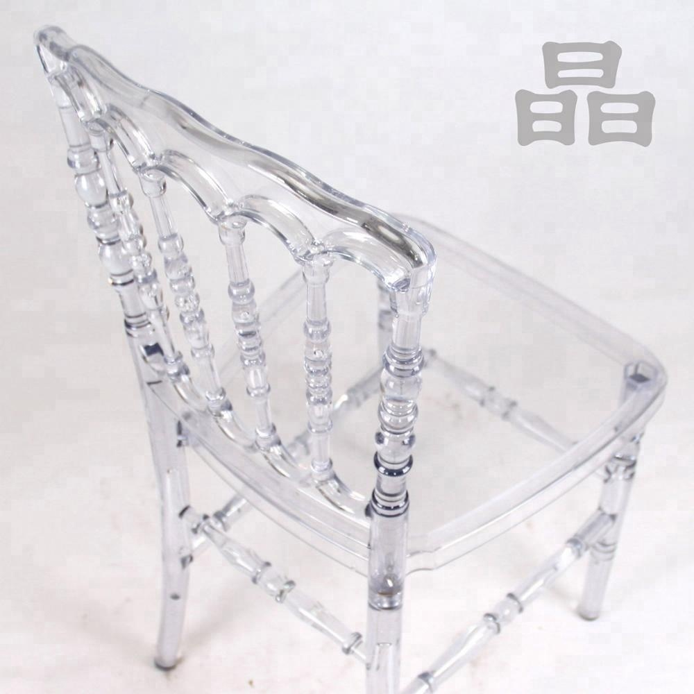 Polycarbonate PC Resin Transparent Banquet Napoleon Wedding Chair
