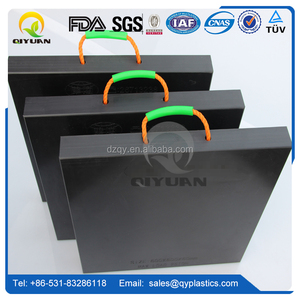 Non -slip board for strong construction crane pads/ temporary road protection outrigger pad/ hdpe plastic jack plate