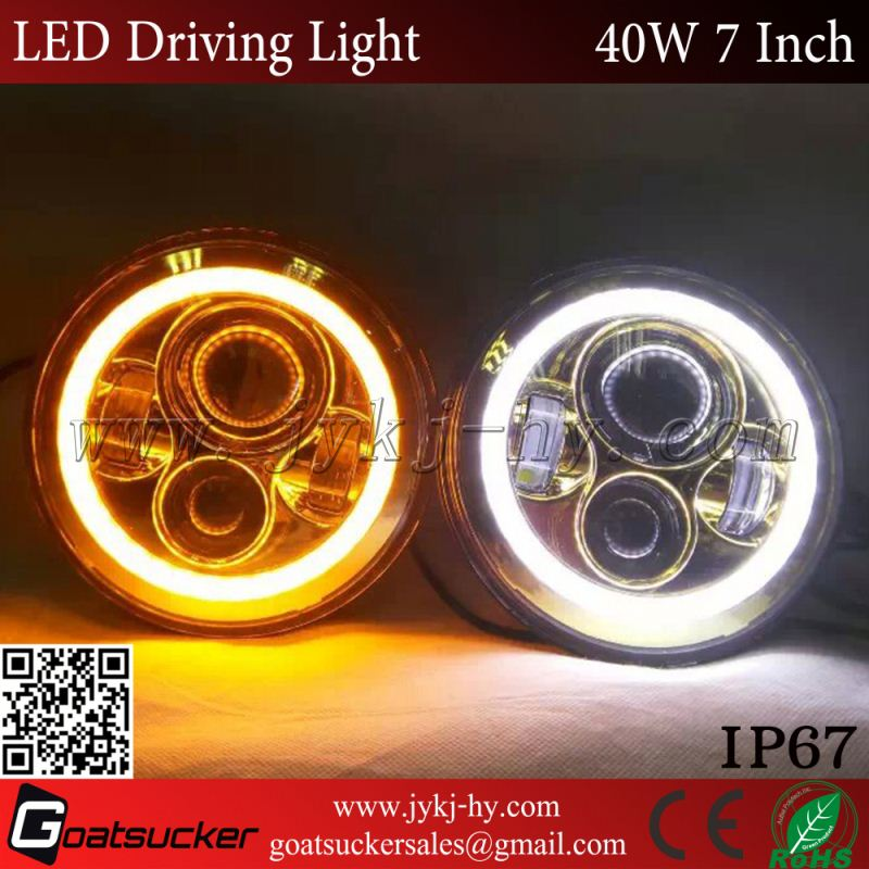 "40w 7"" Led jeeps Wrangler Headlights,jeeps Wrangler Jk 7"" Headlight TJ JK CJ Wrangle 40w 12v 24v"