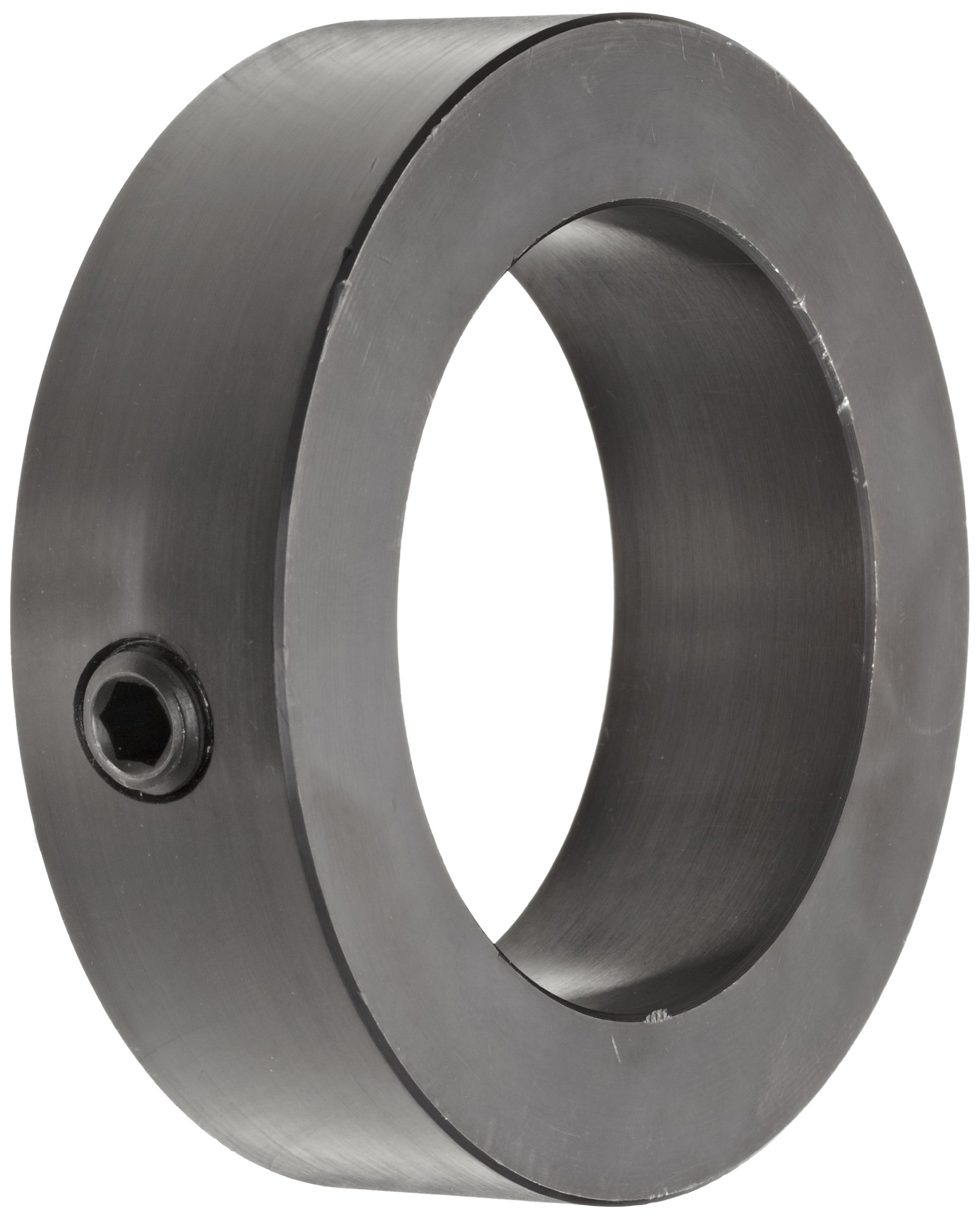 5//8 Bore Climax Metal TC-062-18 Shaft Collar With 10-32 x 1//2 Set Screw Steel One Piece 1-1//2 OD 13//32 Width Black Oxide Finish Threaded