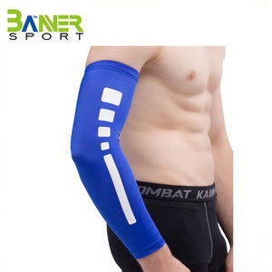 Skidproof elastic arm sleeve uv protection fabric arm brace cycling compression arm support