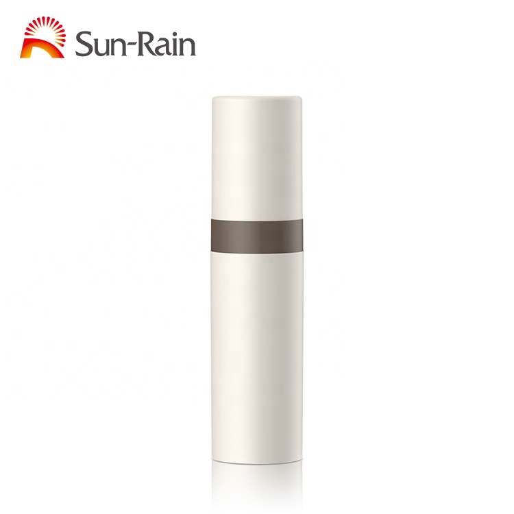 Eco-friendly new desgin cosmetic 5ml 8ml 10ml white transparent plastic pump spray airless bottle