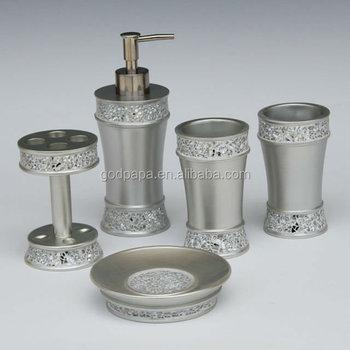 Fashion Bathroom Matching Sets Diamond Accessories Set