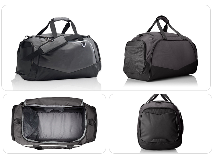 Large storage space portable abrasion-resistant bottom gray tourism duffle bag