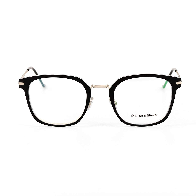 4ae67f610de Get Quotations · Eileen Elisa Pure Titanium Glasses Frames for Men
