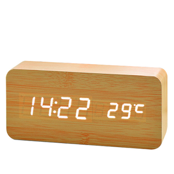 Mini Digital Led Wooden Alarm Clock, Factory Price Alarm Clock, Table Led Digital Alarm Clock