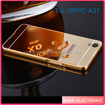 new style db75b bc9fa [soar]wholesale Aluminum Metal Bumper Electroplating Mirror Mobile Phone  Back Cover Case For Oppo A37,For Oppo A37 Cover - Buy Electroplating Mirror  ...