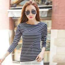 Wholesale Chicago T-shirts Promotional Black And White Stripe T Shirts Custom Women T Shirt