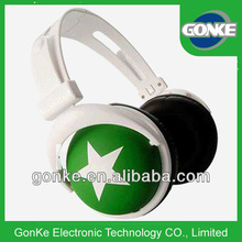 Cheap headphone green custom made for world cup celebration activities