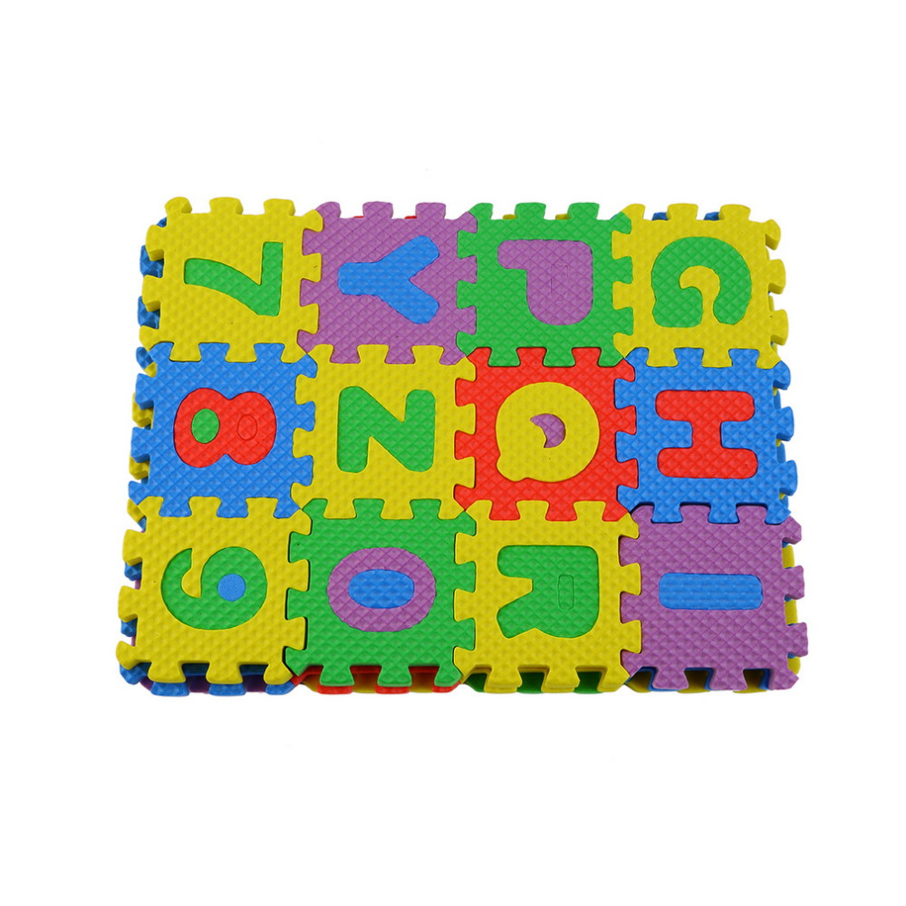 Colorful Educational Puzzle For Kids A Z Alphabet 0 9