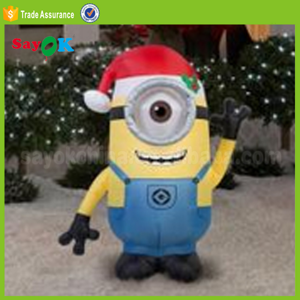 hot sale inflatable christmas minion mascot for decoration