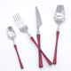 Hot sales hotel stainless steel polishing hand forged flatware set