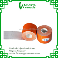 S-wave Design Kinesiology Muscle/Sports Tape 3.8 cm x 5 m Manufactured by China Kinesiology Tape Factory for Neck Protection