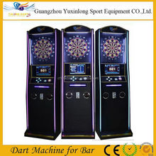 Coin operated soft tip electronic darts board machine with wooden case