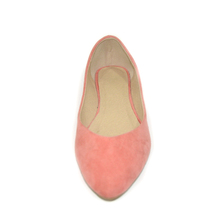 Pink Suede Leather Ballerina Shoes Flats Women Shoe Classic Ballet Flats