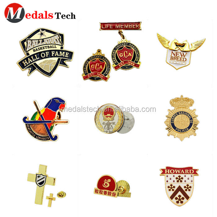 Customized national country metal flag epoxy sticker souvenir  badge