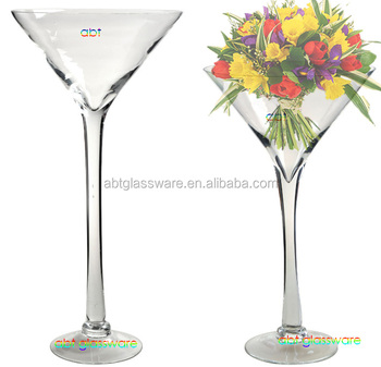 Best Er Long Stem Giant Martini Gl Vase For Home Decoration