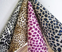 Eco-friendly leopard PU printing leather for shoes and bags