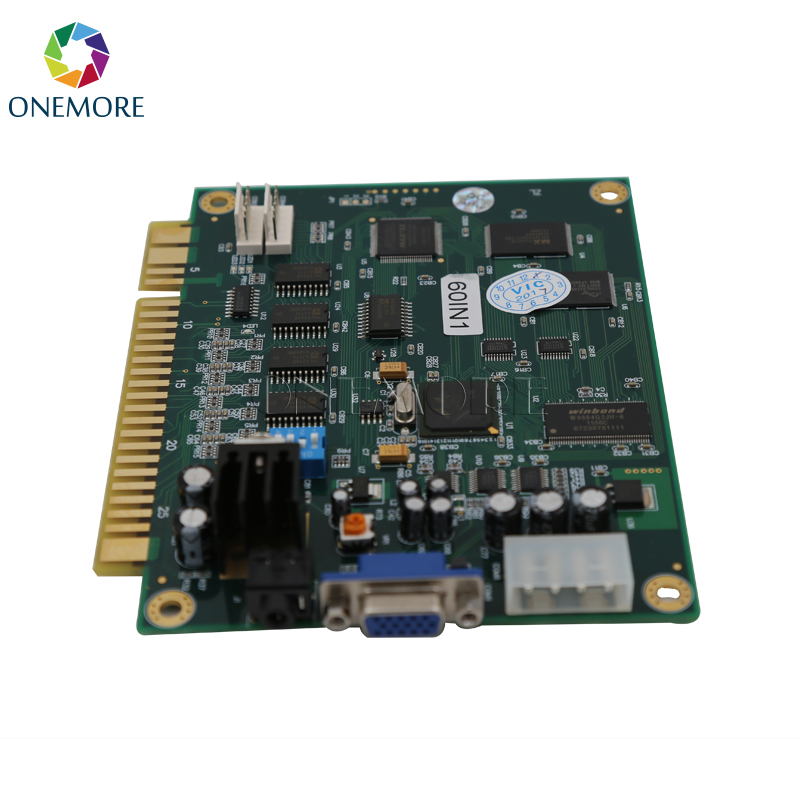 Classical 60 in 1 PCB board Jamma arcade Multi game board with VGA and CGA output