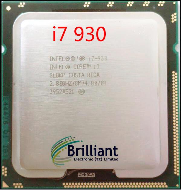 lntel Quad-Core I7-930 CPU Desktop Processor i7 930 8M Cache 2.8 GHz 4.80 GT/s QPI FCLGA1366