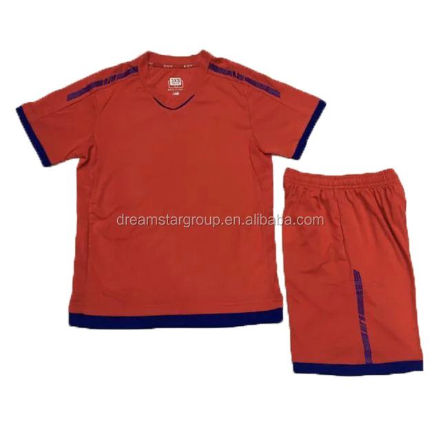 78d9b7b9c Custom High Quality Kids Football Wear Soccer Jersey Set Uniform