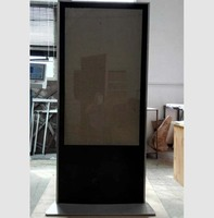 55 -65 inch advertising machine shell vertical aluminum frame tempered glass panel right angle baking paint process