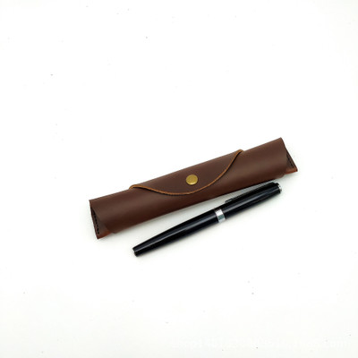 Hot Sale Soft Personalised Vintage leather Pen Holder Leather Executive Pen Case Office Pen Pouch