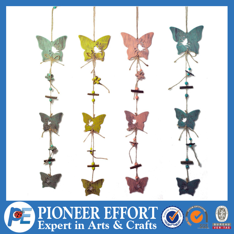 Spring hanging vintage butterfly plywood deco