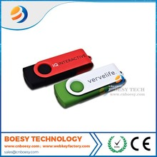 Print logo mini portable light weight swivel usb flash drive