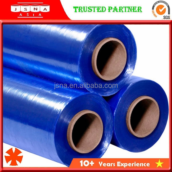 Certified Professional product protection Blue Color LLDPE Plastic Stretch Film