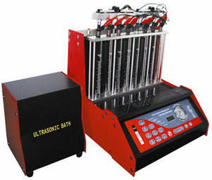 Electronic LGC-8H car ultrasonic fuel injector tester and cleaner machine