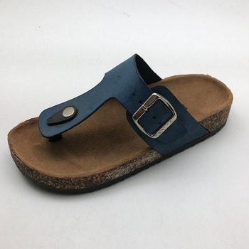 Lady High Quality flip flops with Thick wood Sole