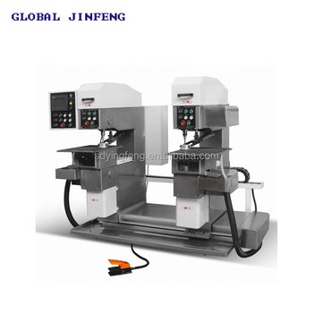 JFZK2-10  Practical PLC control double head drilling machine for glass with CE certificate